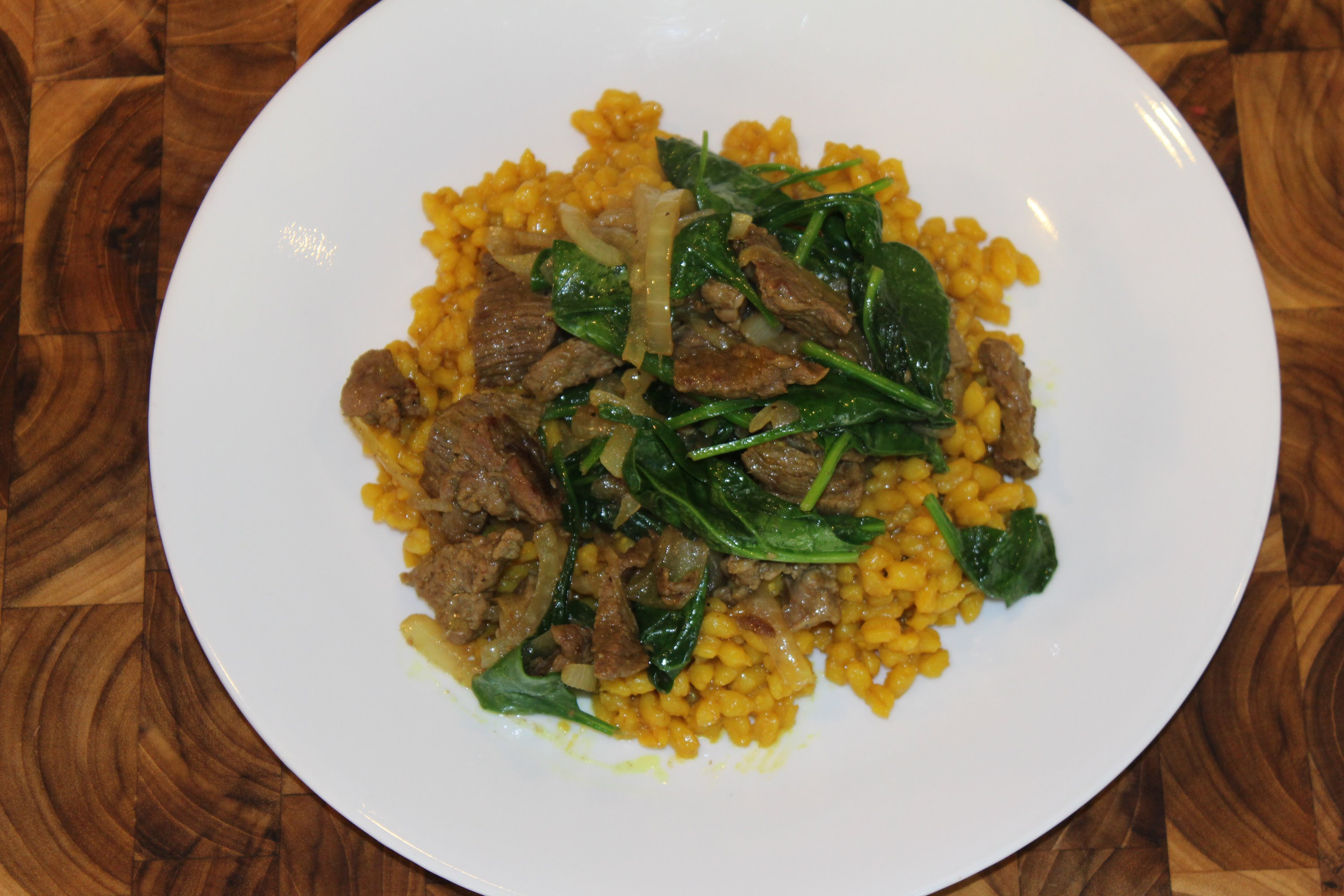 Turmeric Barley with Caramelized Onions